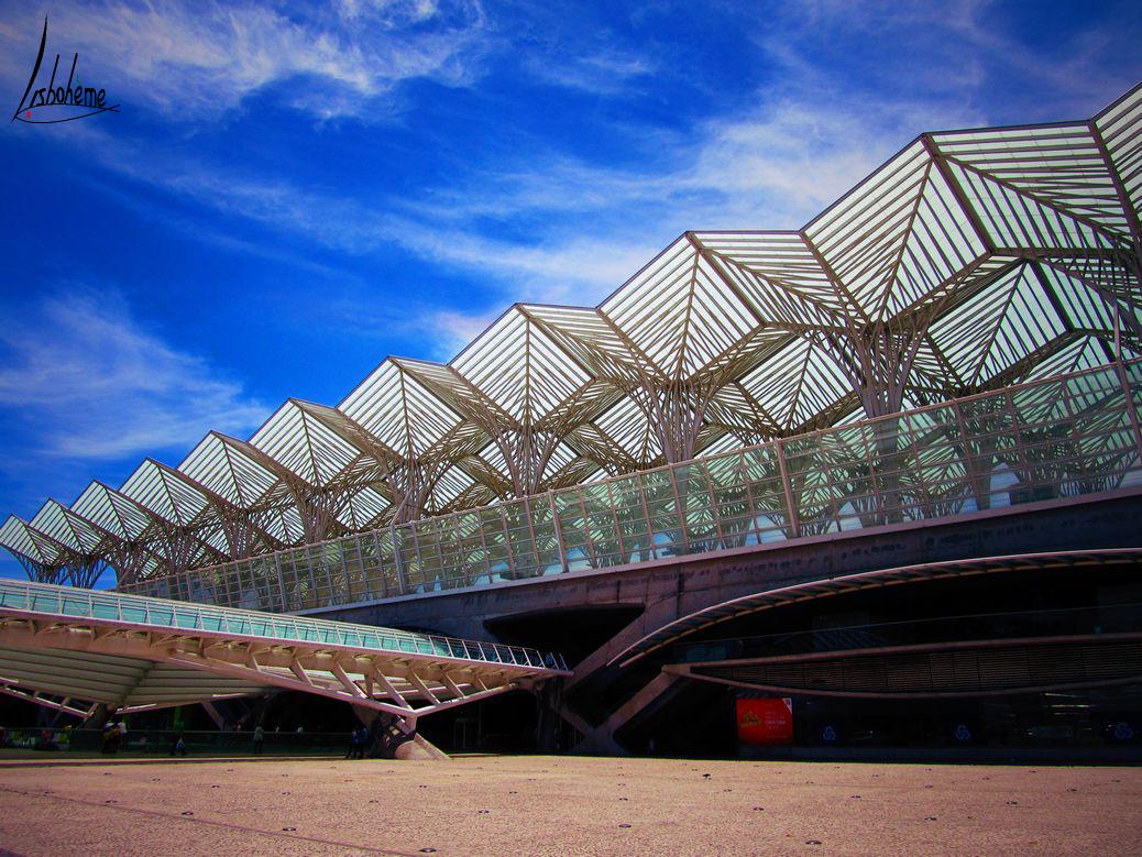 Structure protégeant les quais de la Gare d'Oriente, Parc des Nations, Lisbonne