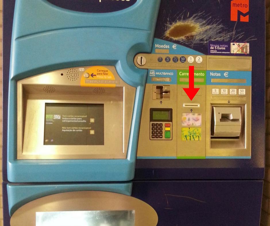 Machine automatique métro