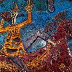 Détail de l'oeuvre de Maria Manuela Madureira, Figuras e Cenas da Cidade de Lisboa