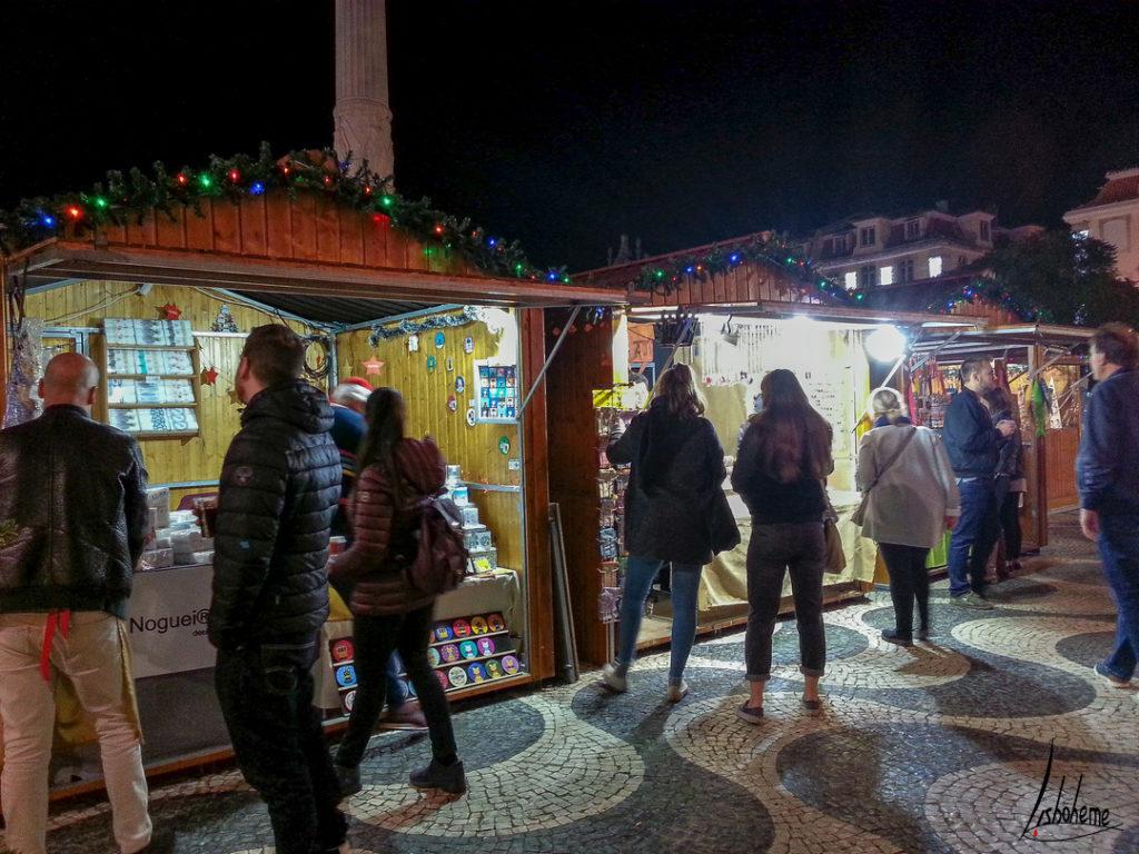 Marché de Noël du Rossio, lumières de Noël de Lisbonne 2018