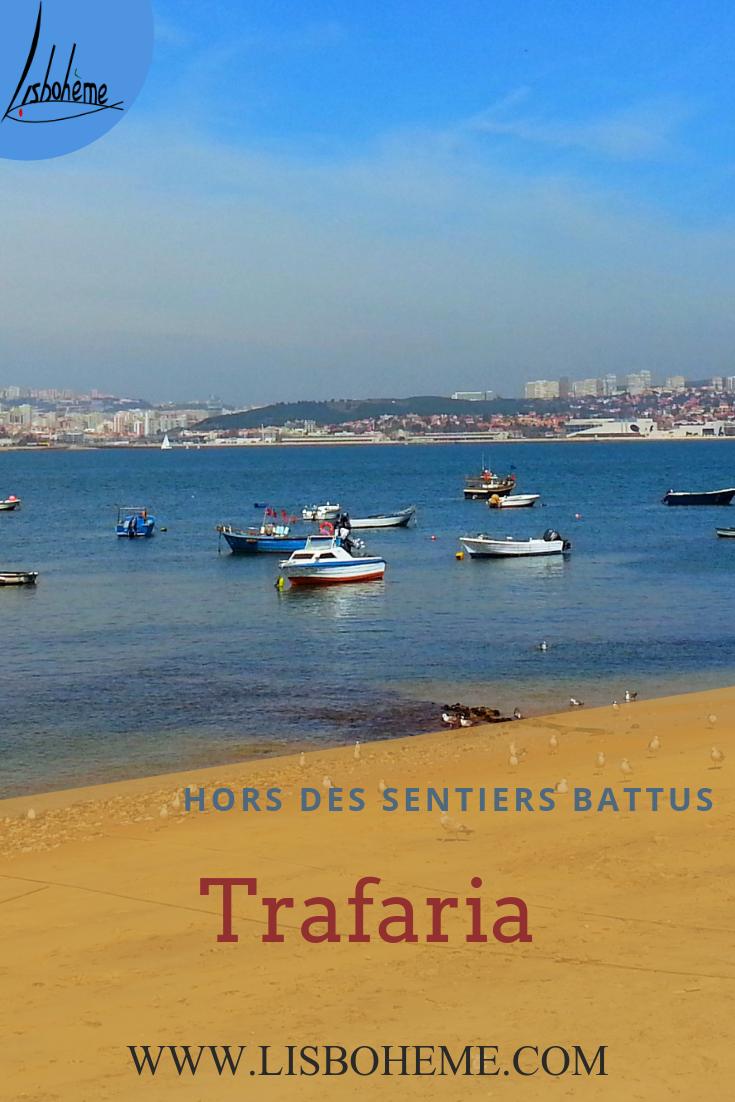 Itinéraire gratuit Trafaria, sur la rive sud du Tage, à 25 min. de Lisbonne