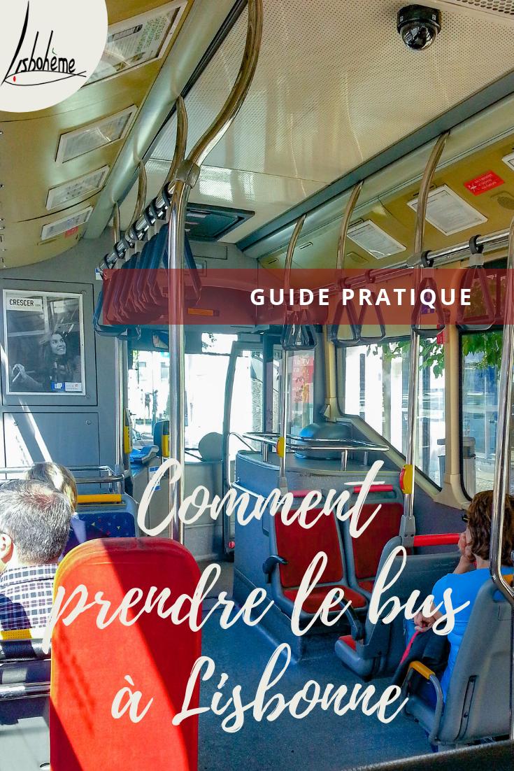 Comment prendre le bus à Lisbonne Epingle pinterest