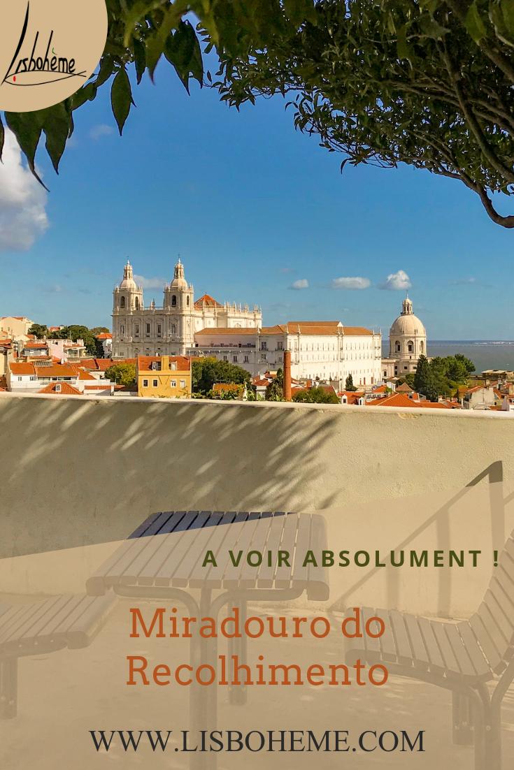 Le miradouro do Recolhimento dans l'Alfama à Lisbonne