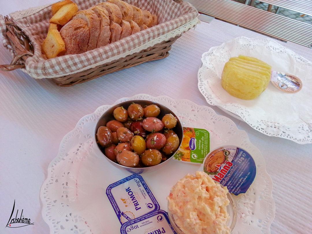 Le couvert, une tradition dans les restaurants au Portugal