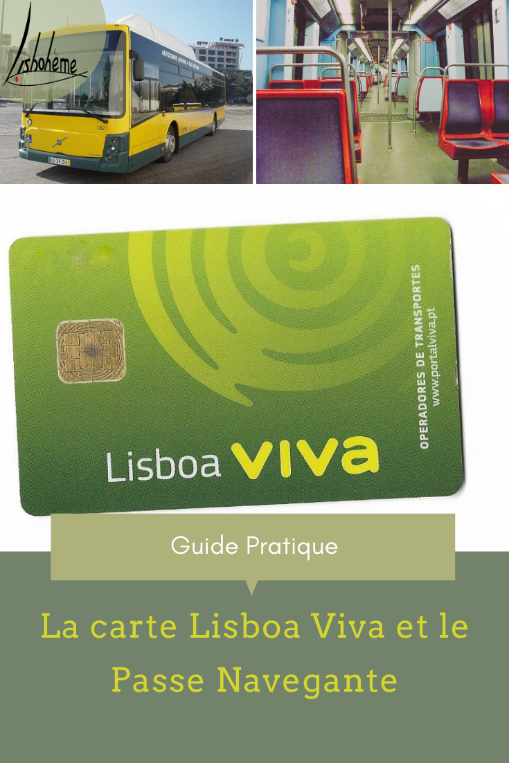Epingle pinterest Carte Lisboa Viva et passe Navegante