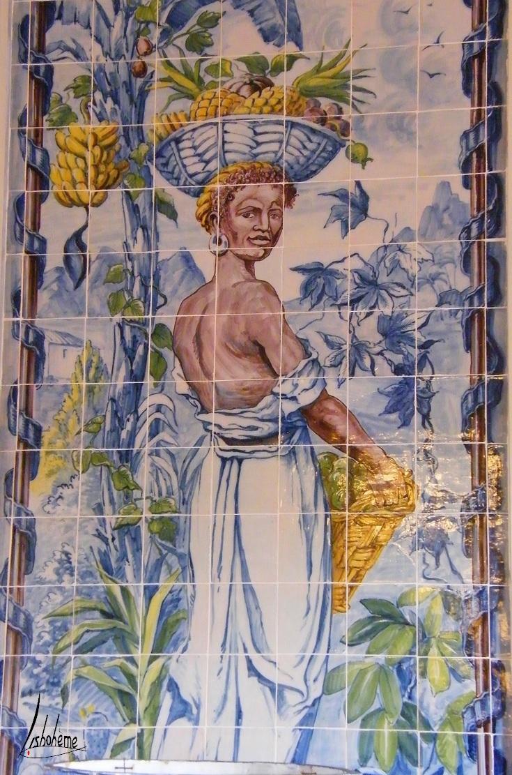 Détail azulejos, Corredor das Mangas, Palais de Queluz, Lisbonne, Portugal