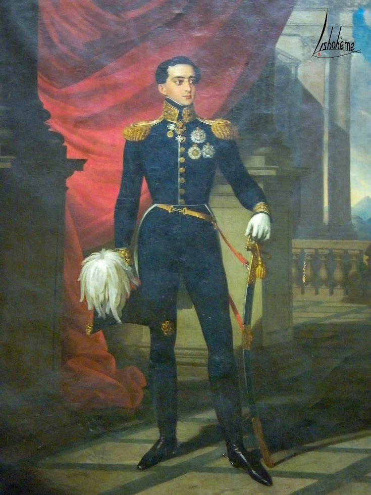 Portrait, Salon de musique, palais de Queluz à Sintra, Près de Lisbonne Portugal