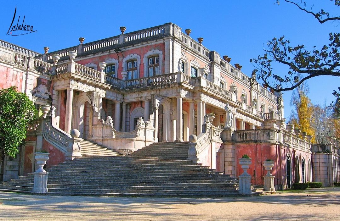 Escalier Robillon, Palais de Queluz à Sintra, près de Lisbonne, Portugal