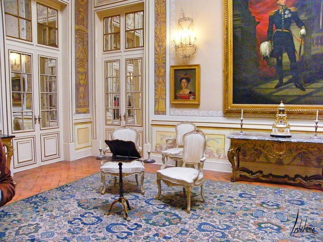 Salon de la Lanterne, Palais de Queluz, Sintra, Lisbonne, Portugal