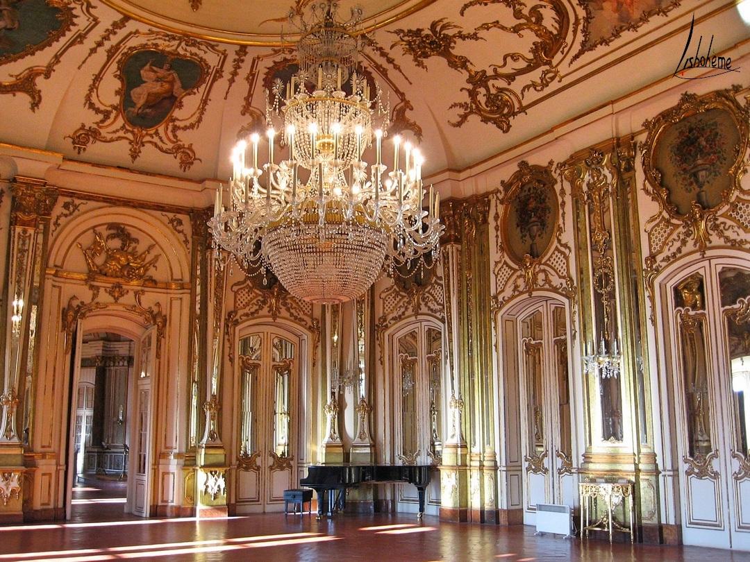 Salle du Trône, Palais de Queluz, Lisbonne, Portugal