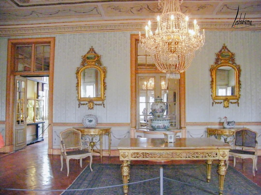 Salon palais de Queluz, Sintra, Lisbonne, Portugal