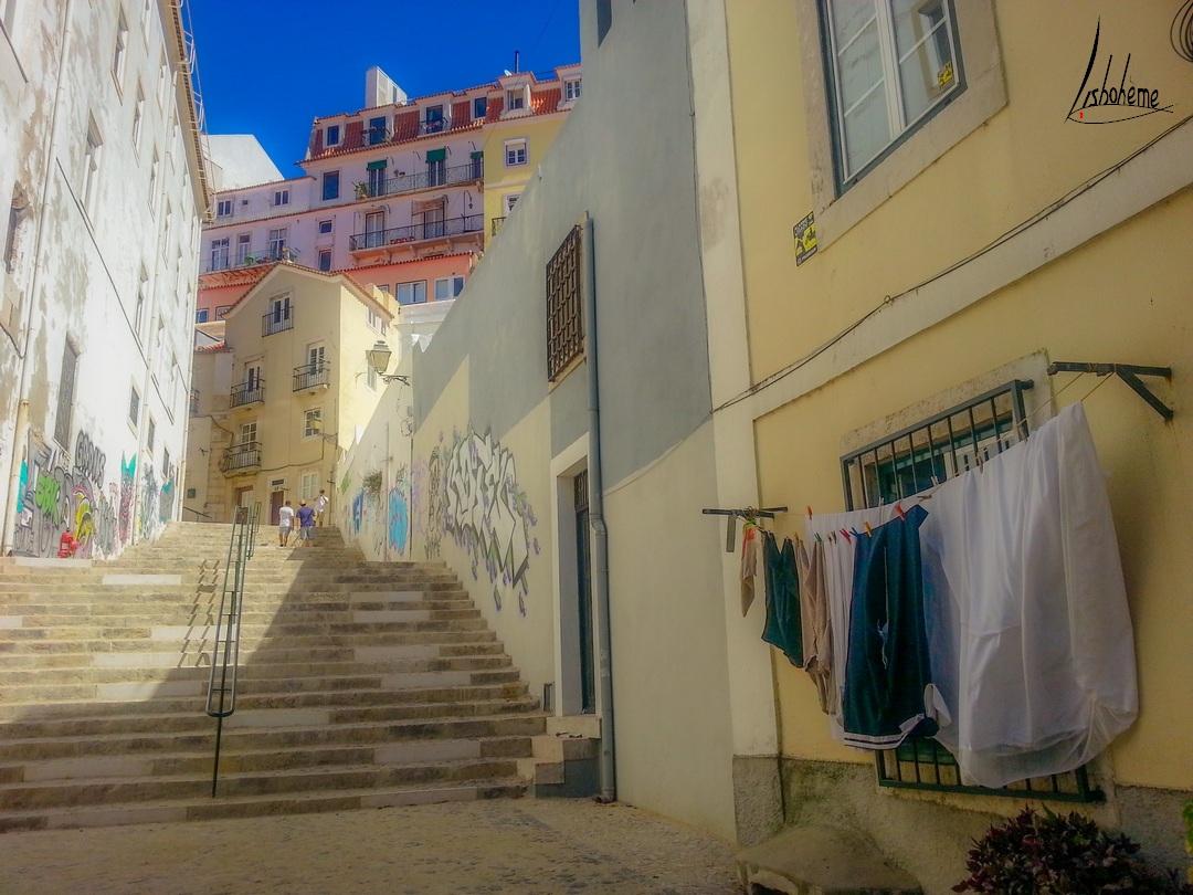 Ruelle Alfama, Lisbonne, Portugal