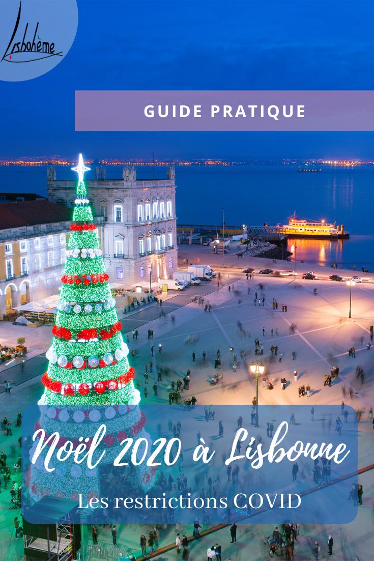Noël 2020 Lisbonne, Portugal, Praça do Comércio, épingle Pinterest