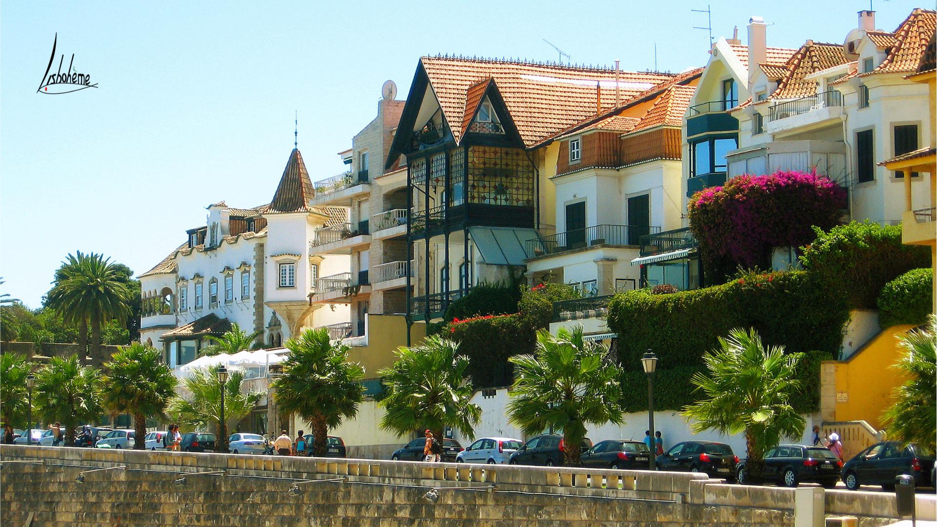 Villas bord de mer Cascais, région de Lisbonne, Portugal